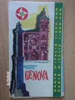 Carte Routière BP - ITALIE - 1962 - GENOVA - Cartes Routières