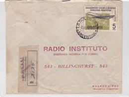 RADIO INSTITUTO, ENSEÑANZA POR CORREO. ENVELOPE CIRCULEE YEAR 1950 LA DULCE A BUENOS AIRES, RECOMMANDE - BLEUP - Argentine