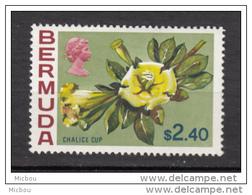 ##5, Bermuda, 1970, MH, Fleur, Flower, Chalice Cup - Bermudes