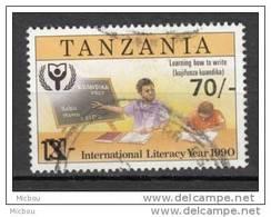 ##5, Tanzanie, Tanzania,  Lecture, Reading, Literacy Year, Livre, Book, écriture, Writting, Surimpression, Overprint - Tanzanie (1964-...)