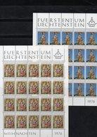 "LIECHTENSTEIN AÑO 1976 SERIE IVERT 603/606, PLIEGOS   "" NAVIDAD ""   MNH. - Liechtenstein"