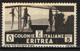 ITALIA - ERITREA - 1933 - ESSICCAMENTO DEGLI SQUALI - 5 CENT. - USATO - Erythrée