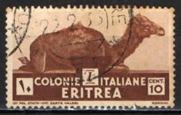 ITALIA - ERITREA - 1933 - DROMEDARIO - USATO - Erythrée