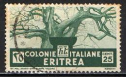ITALIA - ERITREA - 1933 - BAOBAB - USATO - Erythrée