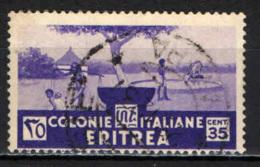 ITALIA - ERITREA - 1933 - INDIGENE AL POZZO - USATO - Erythrée