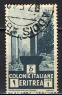 ITALIA - ERITREA - 1933 - ROVINE DI CHOLLOE - USATO - Erythrée