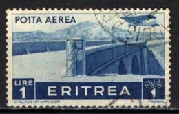 ITALIA - ERITREA - 1936 - AEREO CHE PLANA SU VIADOTTO - USATO - Erythrée