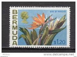 ##5, Bermuda, 1970, MH, Fleur, Flower, Bird Of Paradise, Oiseau De Paradis - Bermudes