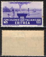 ITALIA - ERITREA - 1933 - INDIGENE AL POZZO - MH - Erythrée