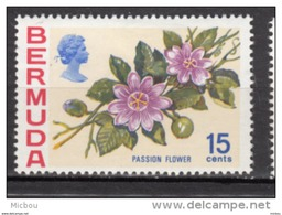 ##5, Bermuda, 1970, MH, Fleur, Flower, Passion Flower - Bermudes