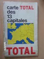 Carte Routière TOTAL - Carte Des 13 Capitales - Cartes Routières