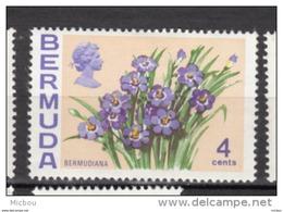 ##5, Bermuda, 1970, MH, Fleur, Flower, Bermudiana - Bermudes
