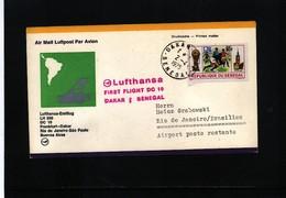 Senegal 1975 Lufthansa First Flight Dakar - Rio De Janeiro - Senegal (1960-...)