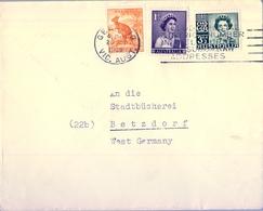 1959 , AUSTRALIA , GEELONG - BETZDORF , SOBRE CIRCULADO - 1952-65 Elizabeth II: Ediciones Pre-Decimales
