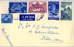 1959 , AUSTRALIA , SYDNEY - KOLN , SOBRE CIRCULADO - 1952-65 Elizabeth II: Ediciones Pre-Decimales