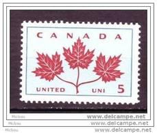 Canada, 1964, #417, Feuilles D'érable, Arbre, Maple Leaf, Tree - Arbres