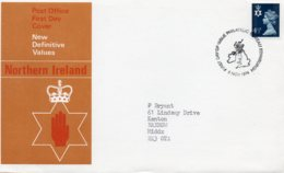 1974 4 1/2p FDC Bureau - Northern Ireland