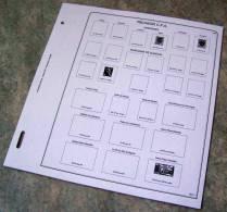Feuilles Album REUNION CFA (10 Feuilles) Avec Page De Garde (Qualité Professionnelle) - Pré-Imprimés