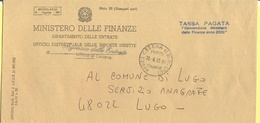 ITALIA - ITALY - ITALIE - 2002 - Tassa Pagata, Convenzione Ministero Delle Finanze Anno 2000 - Ministero Delle Finanze - - 1946-.. République