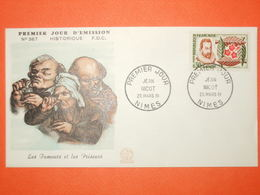 FRANCE 1er JOUR 1961-N°1286 Nicot Sur Enveloppe.  Superbe - 1960-1969