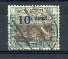 Sarre  :  Yv  71 II  (o)  Surcharge Bleue   ,    N3 - 1920-35 Saargebiet – Abstimmungsgebiet