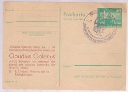 Famouse People GALENUS, POSTCARD GERMANY 1979, SPECIAL POSTMARK GALEN MEDICINE MEDIZINISCHE ESPERANTO KONFERENZ - Célébrités