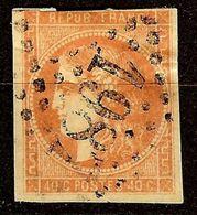 EXTRA BORDEAUX N°48a 40c Orange Vif Oblitéré Losange GC 1987 Cote 250 Euro - 1870 Emissione Di Bordeaux