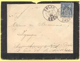 FRANCIA - France - 1900 - 15c Sage - Viaggiata Da Culan Per Paris - 1876-1898 Sage (Type II)