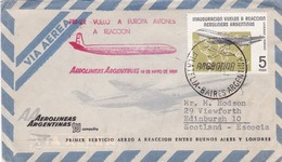 PRIMER VUELO A EUROPA EN AVIONES A REACCION AEROLINEAS ARGENTINAS 1959 - BLEUP - Poste Aérienne