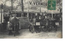 69 - LYON - T.Belle Vue Animée Du Concours National D'agriculture 1907- Stand V.Vermorel  VILLEFRANCHE - Autres