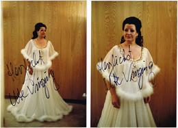 OPERA German Soprano UTE VINZING Autograph Hand Signed Dedicacee - Lot Of (2) Two Photos 1980/90's - Fotos Dedicadas