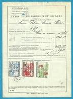 Fiscale Zegels 50 Fr + 9 Fr..TP Fiscaux / Op Dokument Douane En 1934 Taxe De Transmission Et De Luxe - Fiscaux