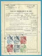 Fiscale Zegels 50 Fr + 20 Fr......TP Fiscaux / Op Dokument Douane En 1936 Taxe De Transmission Et De Luxe - Fiscaux