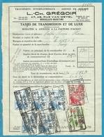 Fiscale Zegels 50 Fr + 20 Fr......TP Fiscaux / Op Dokument Douane En 1934 Taxe De Transmission Et De Luxe - Fiscaux