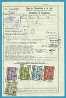 Fiscale Zegels 1000 Fr + 10 Fr......TP Fiscaux / Op Dokument Douane En 1939 Taxe De Transmission Et De Luxe - Fiscaux