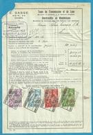 Fiscale Zegels 1000 Fr + 40 Fr......TP Fiscaux / Op Dokument Douane En 1938 Taxe De Transmission Et De Luxe - Fiscaux