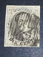 COB N ° 10 Oblitéré  D23 Herck-la-Ville - 4 Marges - 1858-1862 Médaillons (9/12)