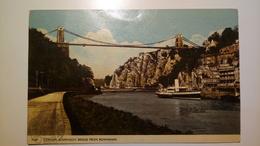UK - England - Clifton Suspension Bridge From Rownham - 1967 - Nave, Boat, Ship - Bristol