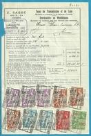 Fiscale Zegels 1000 Fr + 500 Fr.+200Fr.....TP Fiscaux / Op Dokument Douane En 1939 Taxe De Transmission Et De Luxe - Fiscaux