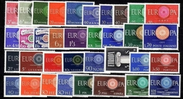 EUROPA CEPT JAHRGANG 1960 ** 35 WERTE OHNE LIECHTENSTEIN - Europa-CEPT