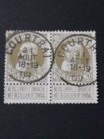 COB N ° 75 Oblitération Courtrai 09 - 1905 Grosse Barbe