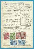 Fiscale Zegels 200 Fr + 100 Fr.+50Fr.....TP Fiscaux / Op Dokument Douane En 1941 Taxe De Transmission Et De Luxe - Fiscaux