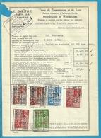 Fiscale Zegels 500 Fr + 400 Fr.+50Fr.....TP Fiscaux / Op Dokument Douane En 1940 Taxe De Transmission Et De Luxe - Fiscaux