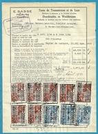 Fiscale Zegels 500 Fr + 100 Fr.+80Fr.....TP Fiscaux / Op Dokument Douane En 1940 Taxe De Transmission Et De Luxe - Fiscaux