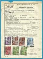 Fiscale Zegels 1000 Fr + 500 Fr.+400Fr....TP Fiscaux / Op Dokument Douane En 1940 Taxe De Transmission Et De Luxe - Fiscaux