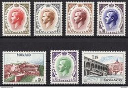 MONACO 1969 - SERIE N° 772 A 778 - 7 TP NEUFS** - Monaco