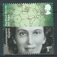 GROSBRITANNIEN GRANDE BRETAGNE GB 2010 ROYAL SOCIETY: DOROTHY HODGKIN, CRYSTALLOGRAPHY 1ST USED SG 3034 SC 2755 MI 2896 - 1952-.... (Elizabeth II)