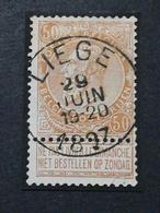 COB N ° 62 Oblitération Liège 1897 - 1893-1900 Fine Barbe