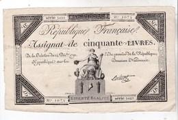 Rare Assignat De 50 Livres 1792  Signature Anicot   Série 5422  Bon état Belle Marge - Assignats & Mandats Territoriaux