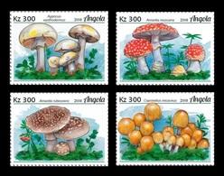 Angola 2018 Mih. 1911/14 Flora Of The World. Mushrooms MNH ** - Angola